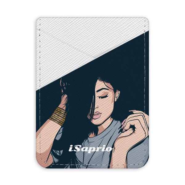 Pouzdro na kreditní karty iSaprio Swag Girl světlá nalepovací kapsa