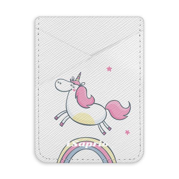 Pouzdro na kreditní karty iSaprio Unicorn 01a světlá nalepovací kapsa
