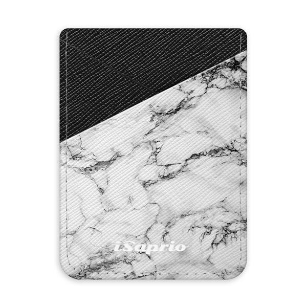 Pouzdro na kreditní karty iSaprio White Marble 01 tmavá nalepovací kapsa