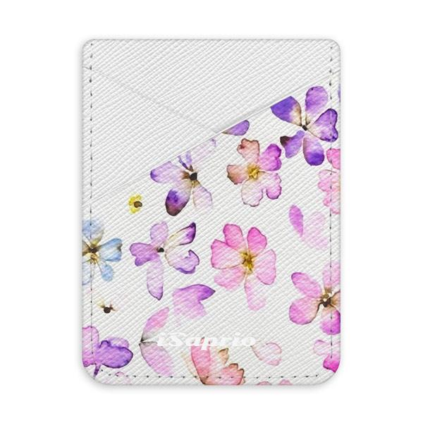Pouzdro na kreditní karty iSaprio Wildflower světlá nalepovací kapsa