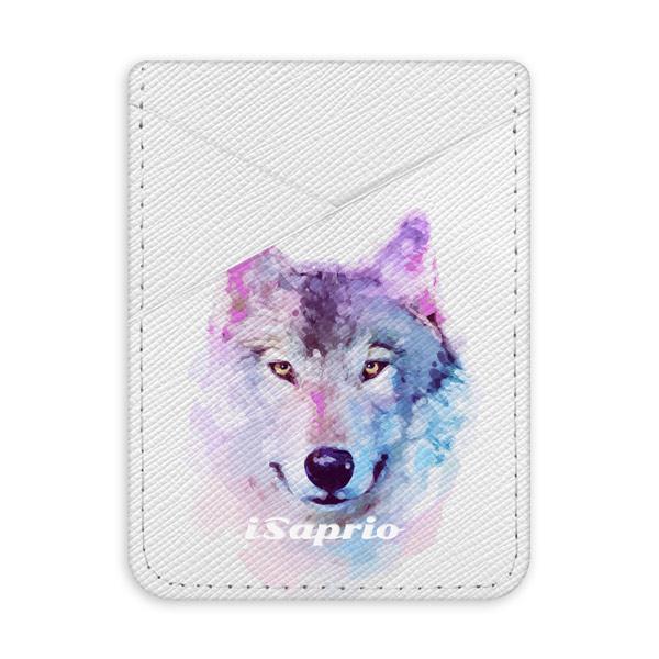 Pouzdro na kreditní karty iSaprio Wolf 01 světlá nalepovací kapsa