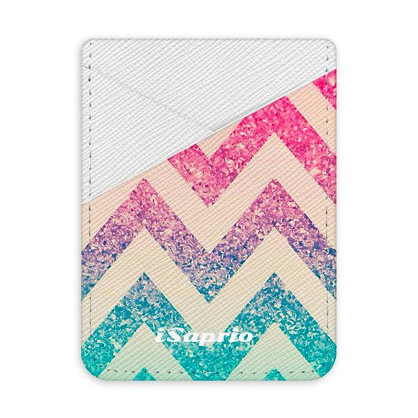 Pouzdro na kreditní karty iSaprio  Zig Zag světlá nalepovací kapsa