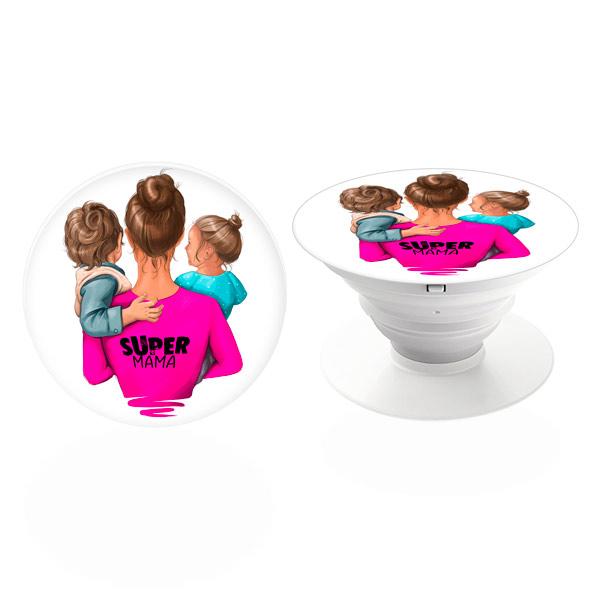 PopSocket iSaprio – Super Mama Boy and Girl držák na mobil / mobil držka