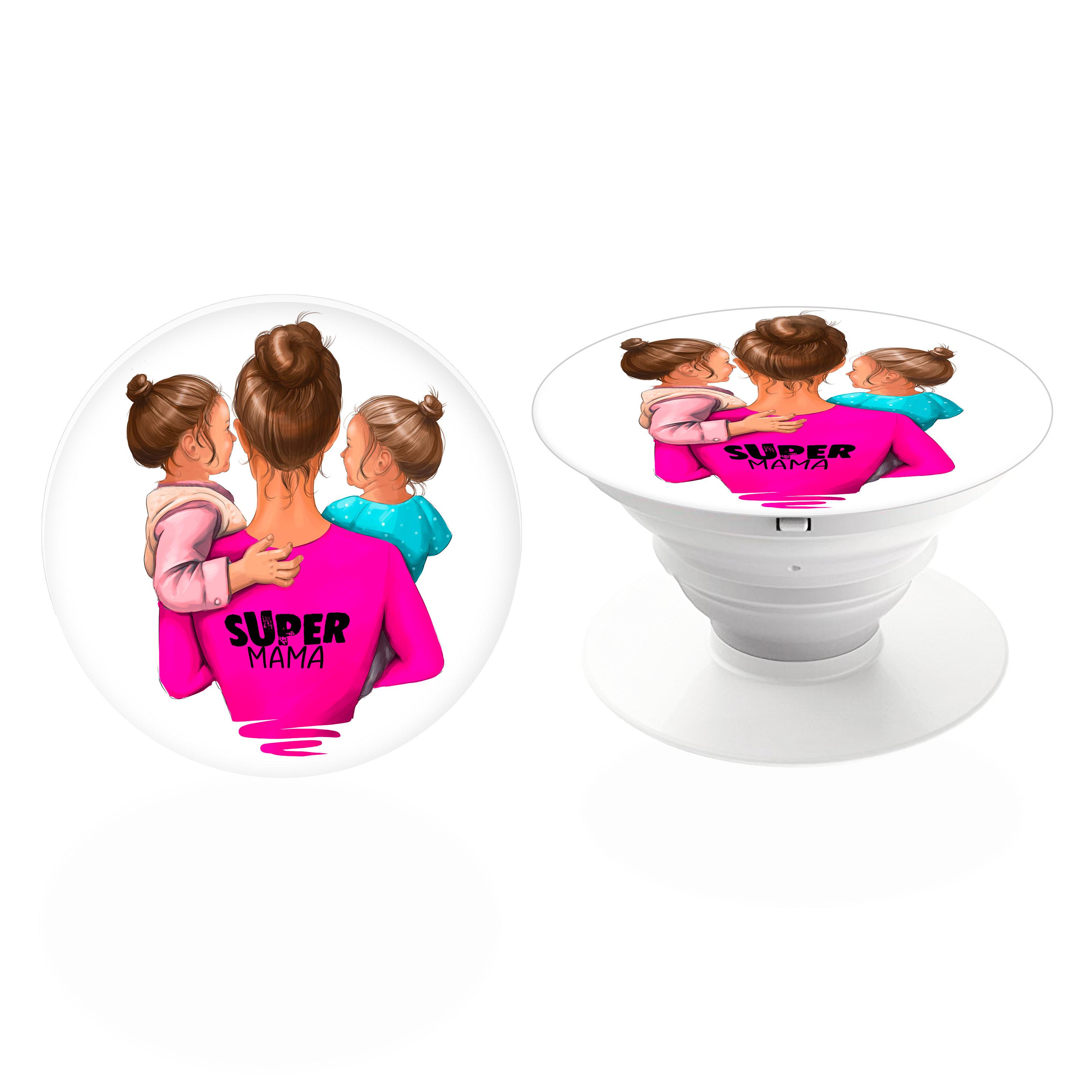 PopSocket iSaprio – Super Mama Two Girl držák na mobil / mobil držka