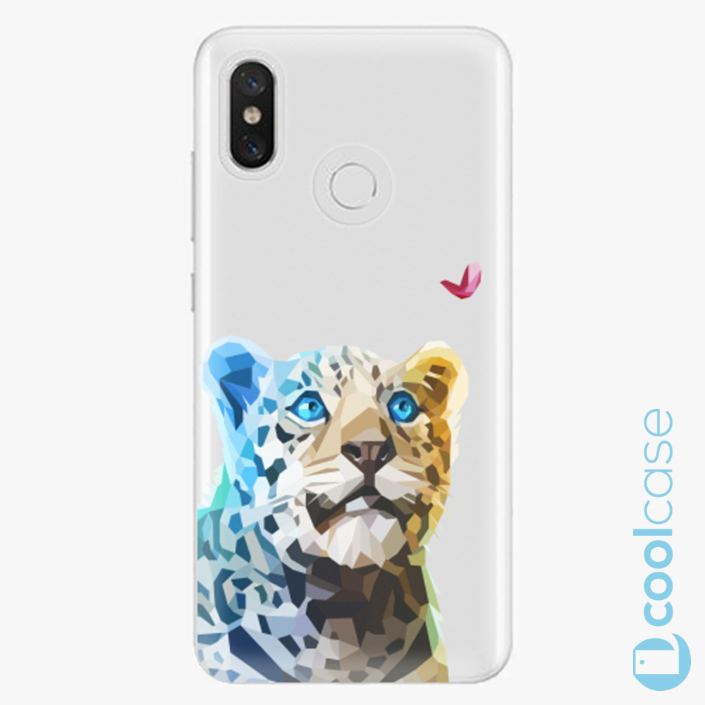 Plastový kryt iSaprio Fresh - Leopard With Butterfly na mobil Xiaomi Mi 8