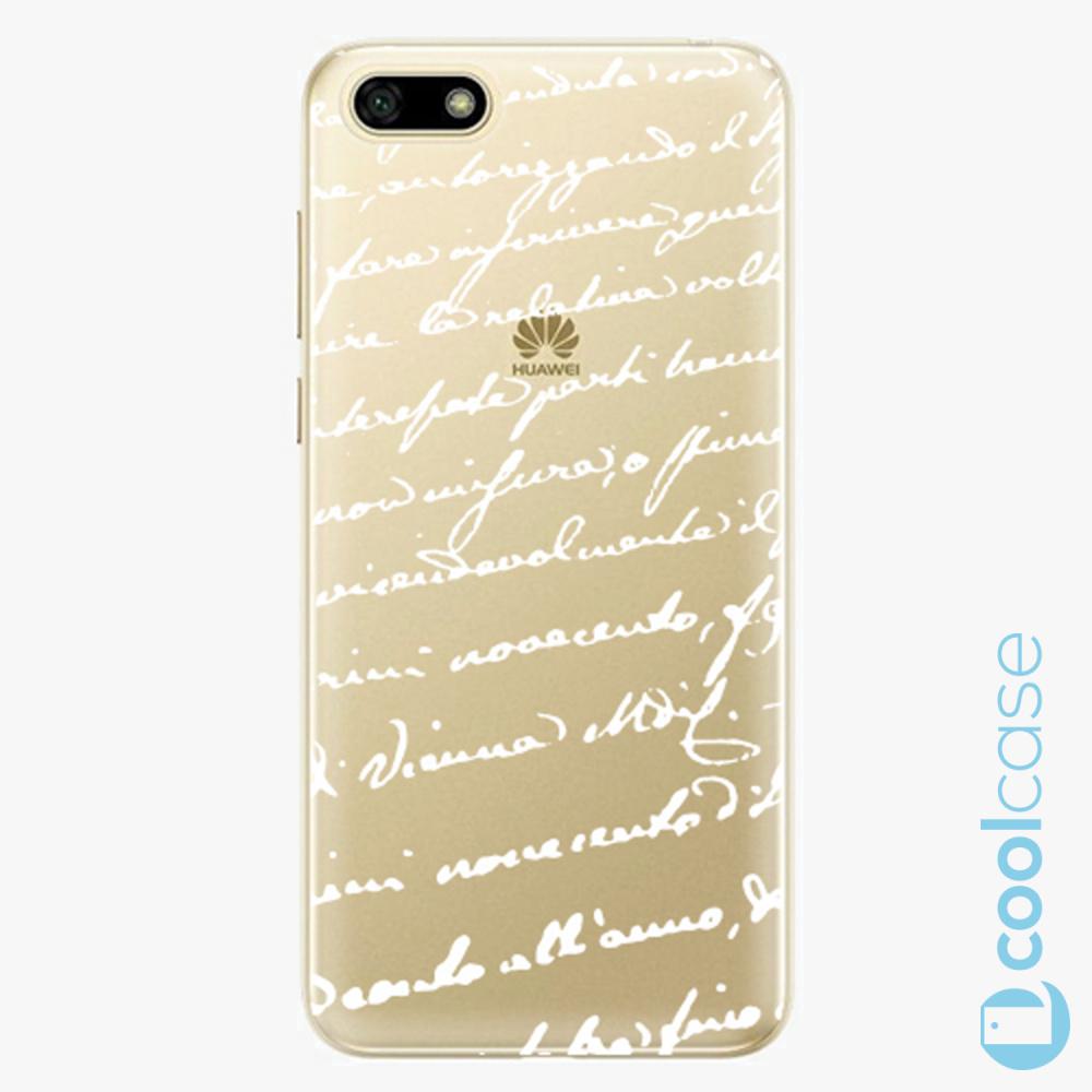 Plastový kryt iSaprio Fresh - Handwriting 01 white na mobil Huawei Y5 2018 / Honor 7S