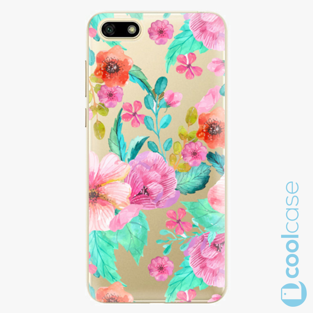 Plastový kryt iSaprio Fresh - Flower Pattern 01 na mobil Huawei Y5 2018 / Honor 7S