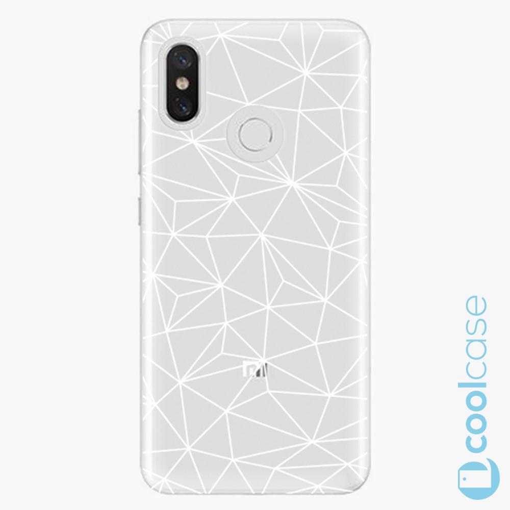 Plastový kryt iSaprio Fresh - Abstract Triangles 03 white na mobil Xiaomi Mi 8