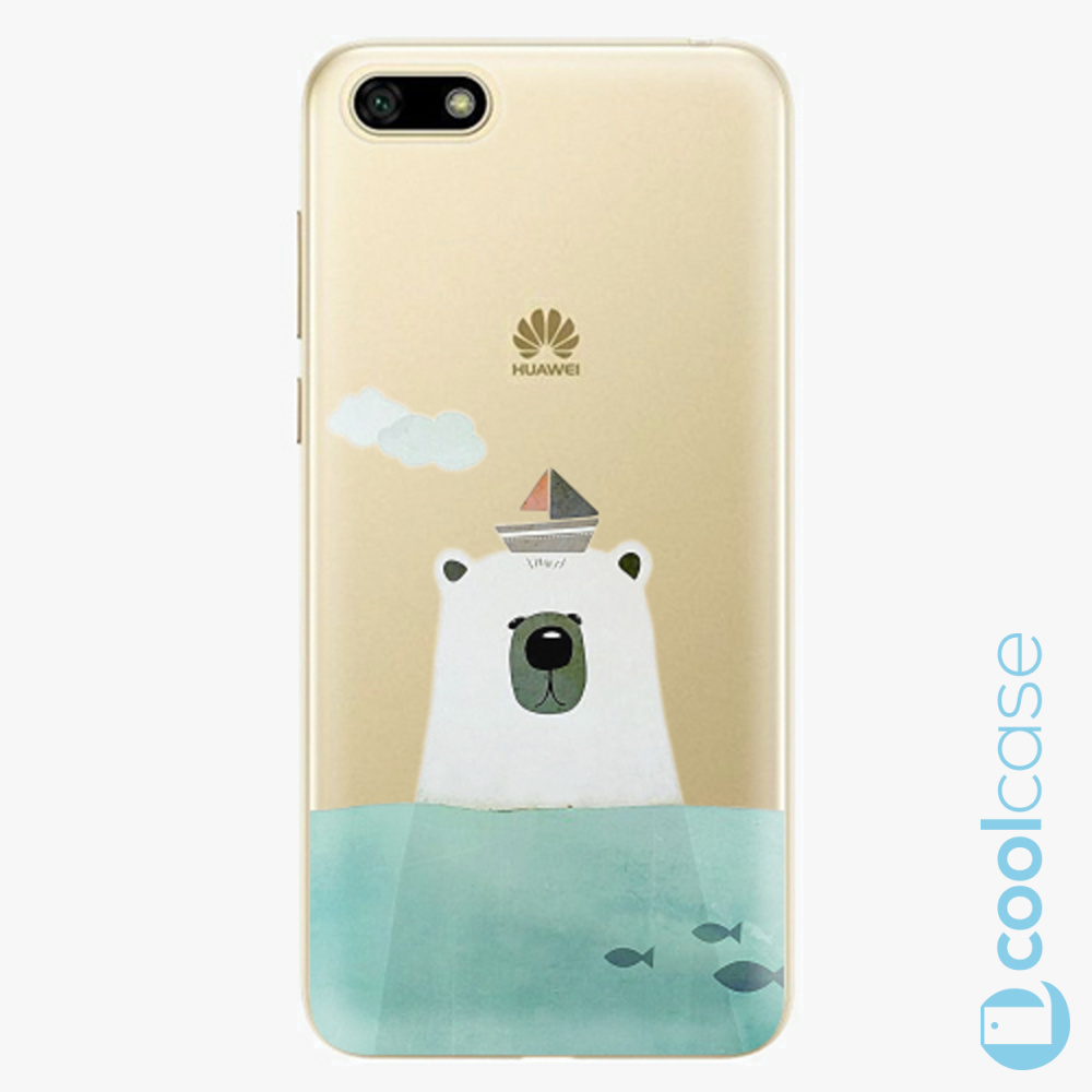 Plastový kryt iSaprio Fresh - Bear With Boat na mobil Huawei Y5 2018 / Honor 7S