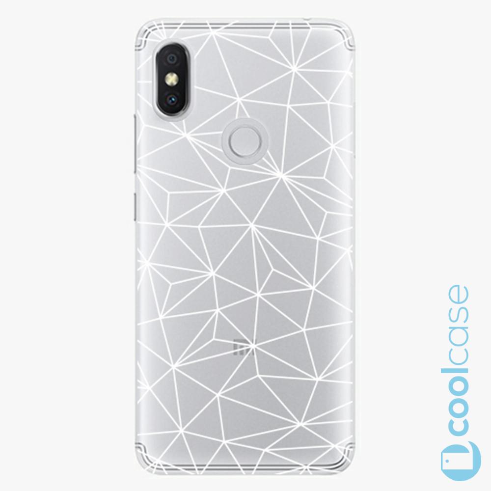 Plastový kryt iSaprio Fresh - Abstract Triangles 03 white na mobil Xiaomi Redmi S2