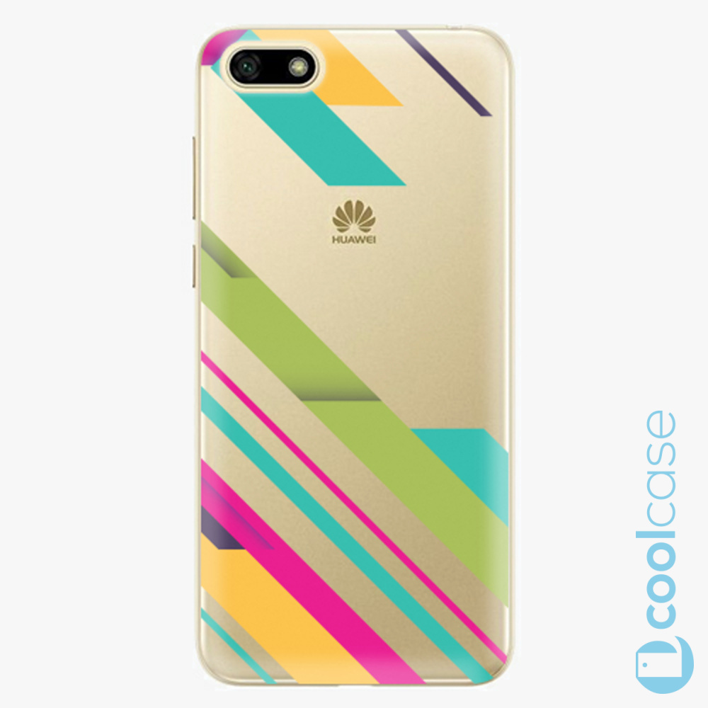Plastový kryt iSaprio Fresh - Color Stripes 03 na mobil Huawei Y5 2018 / Honor 7S