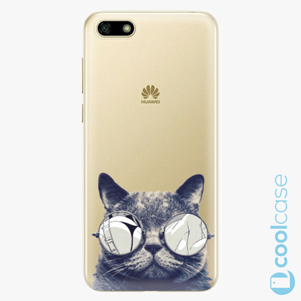 Plastový kryt iSaprio Fresh - Crazy Cat 01 na mobil Huawei Y5 2018 / Honor 7S