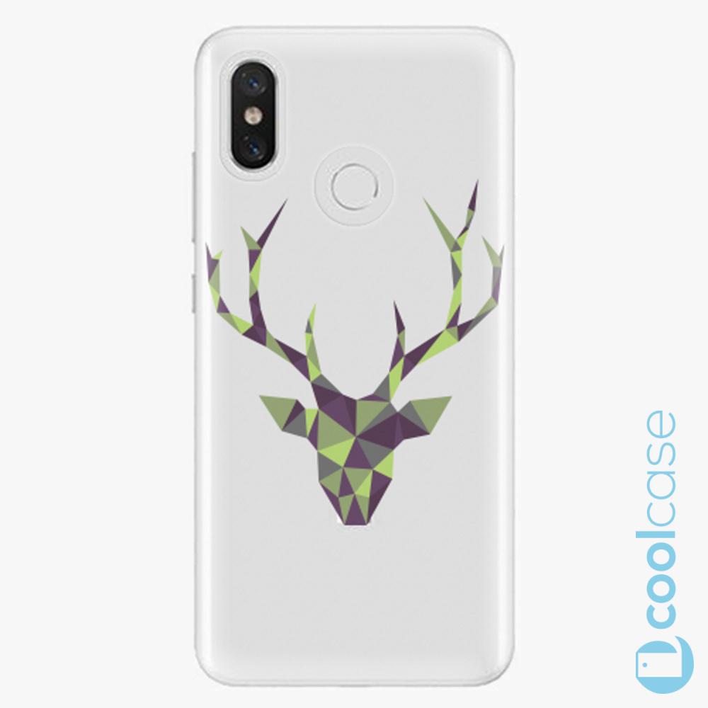 Plastový kryt iSaprio Fresh - Deer Green na mobil Xiaomi Mi 8