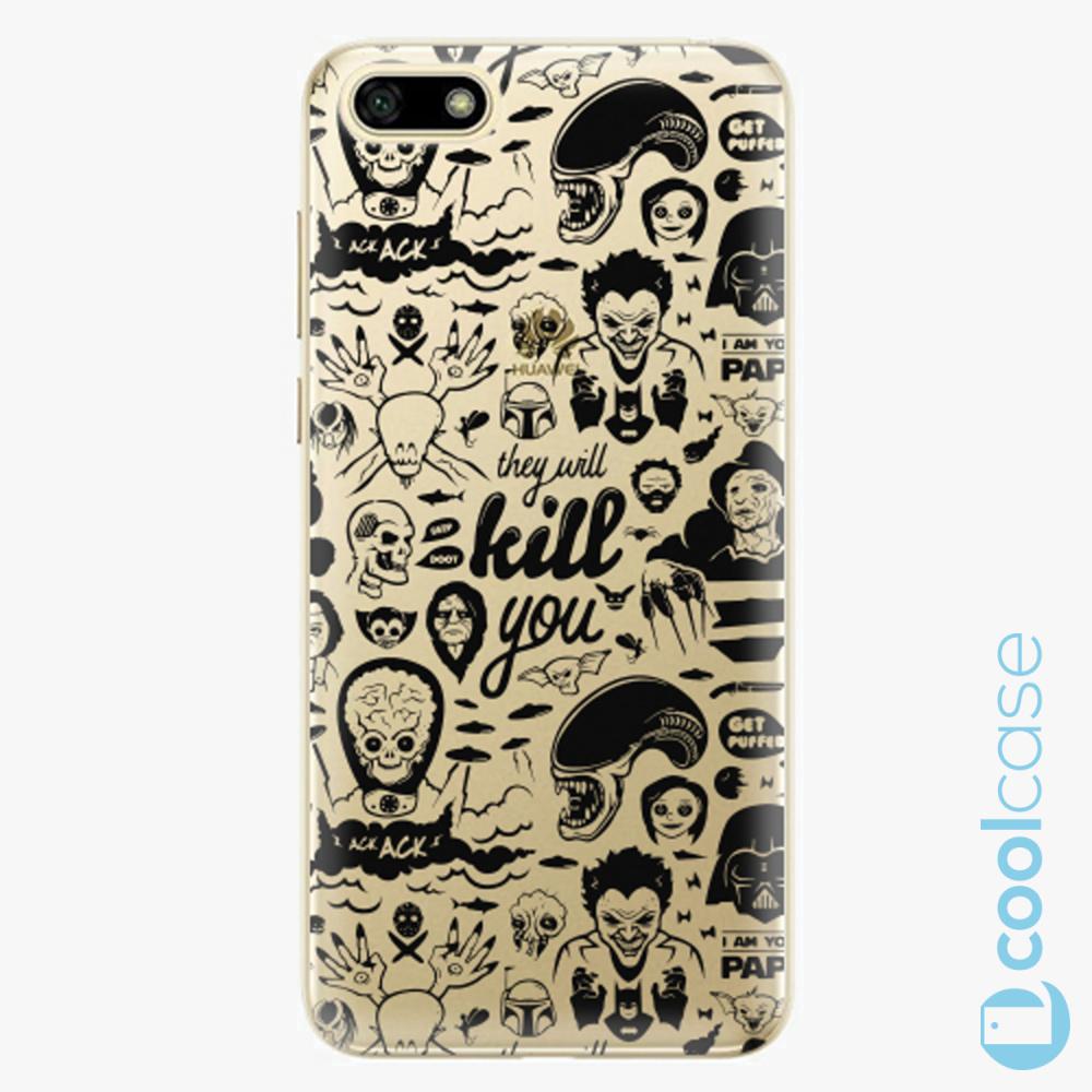Plastový kryt iSaprio Fresh - Comics 01 black na mobil Huawei Y5 2018 / Honor 7S