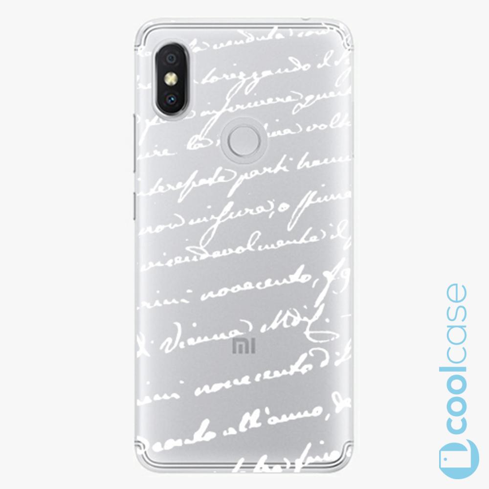 Plastový kryt iSaprio Fresh - Handwriting 01 white na mobil Xiaomi Redmi S2