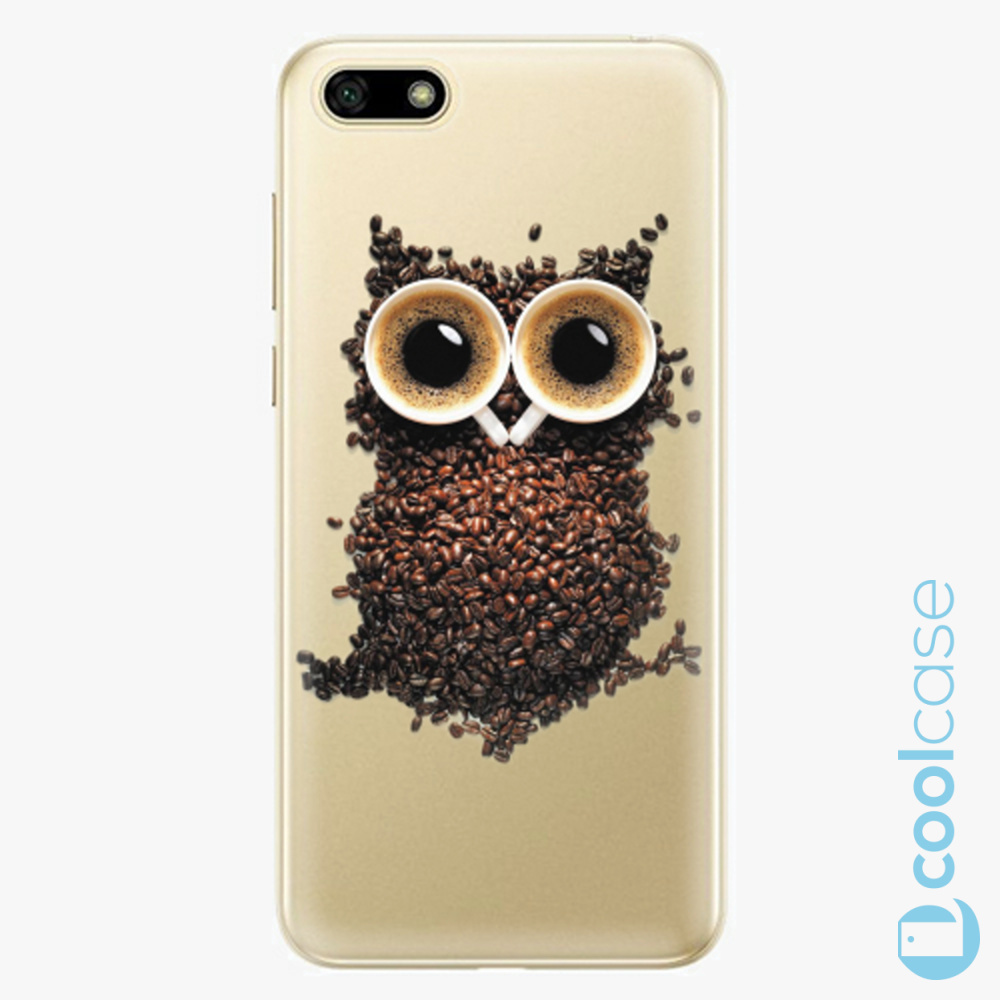 Plastový kryt iSaprio Fresh - Owl And Coffee na mobil Huawei Y5 2018 / Honor 7S