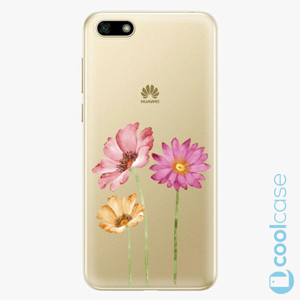 Plastový kryt iSaprio Fresh - Three Flowers na mobil Huawei Y5 2018 / Honor 7S