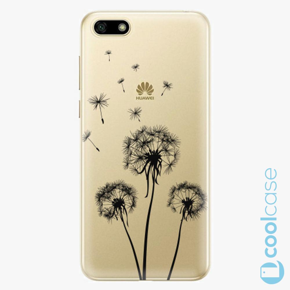 Plastový kryt iSaprio Fresh - Three Dandelions black na mobil Huawei Y5 2018 / Honor 7S