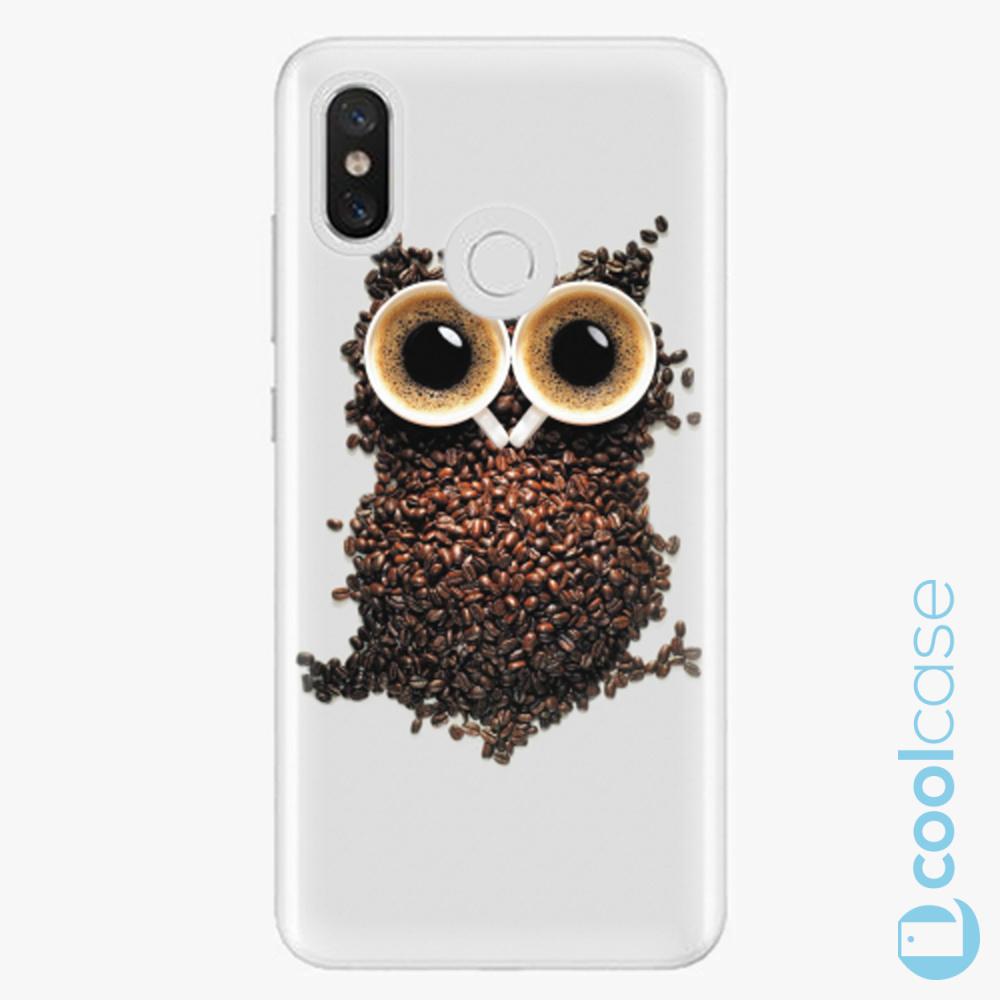 Plastový kryt iSaprio Fresh - Owl And Coffee na mobil Xiaomi Mi 8
