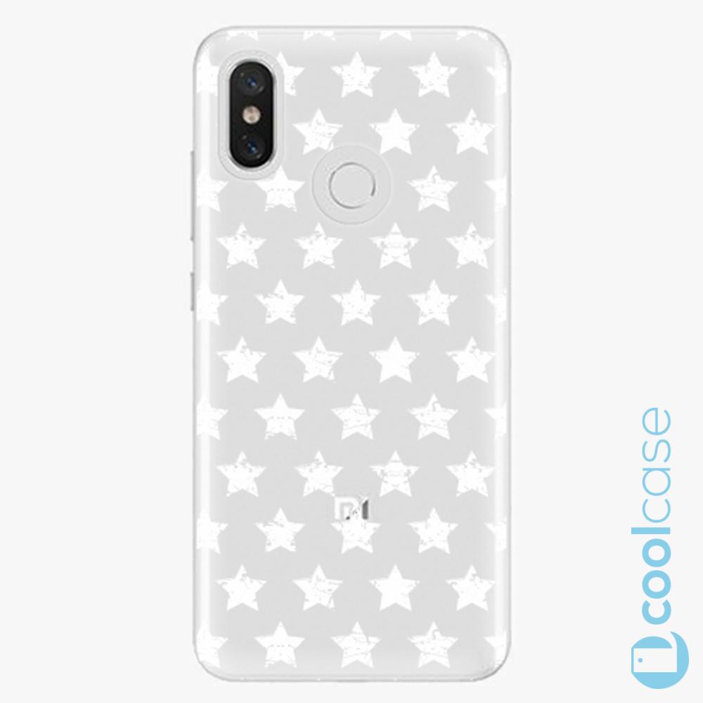 Plastový kryt iSaprio Fresh - Stars Pattern white na mobil Xiaomi Mi 8