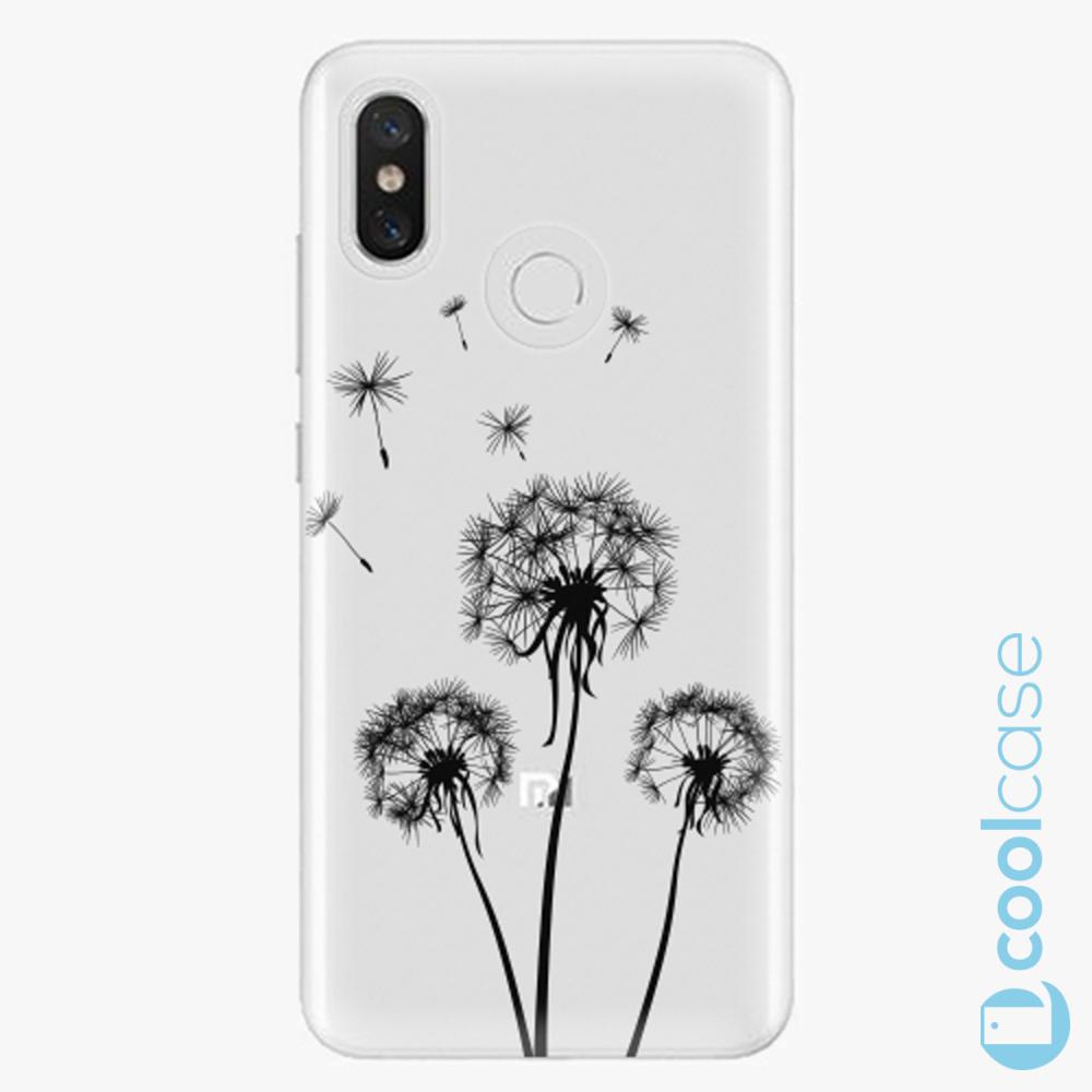 Plastový kryt iSaprio Fresh - Three Dandelions black na mobil Xiaomi Mi 8