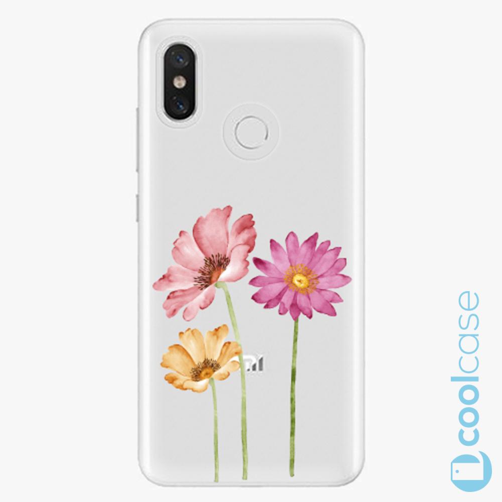 Plastový kryt iSaprio Fresh - Three Flowers na mobil Xiaomi Mi 8
