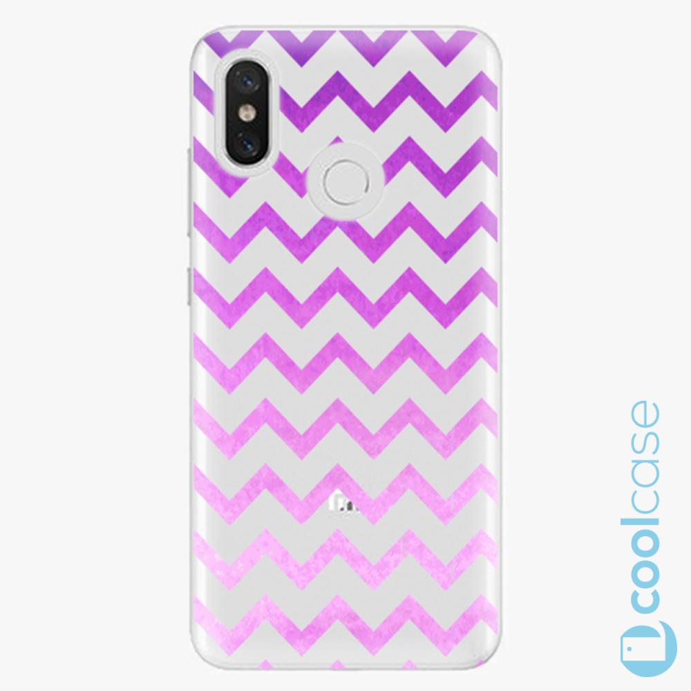 Plastový kryt iSaprio Fresh - Zigzag purple na mobil Xiaomi Mi 8