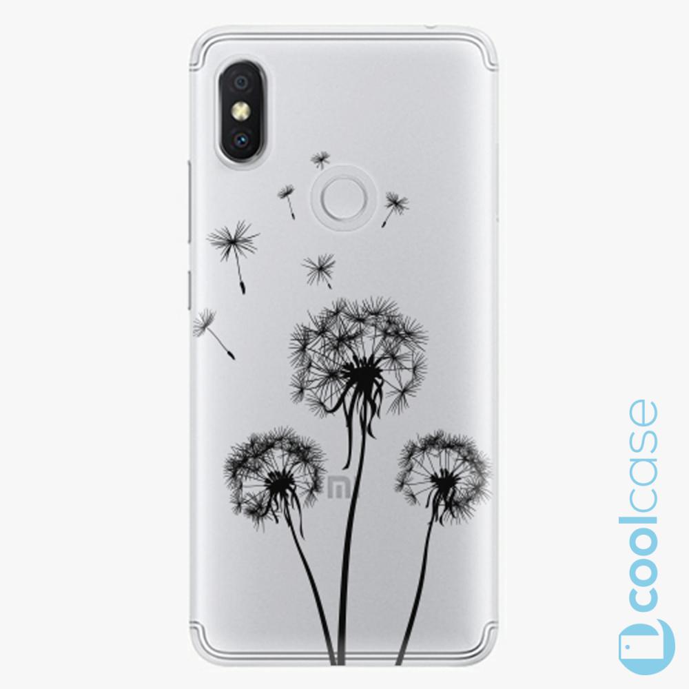 Plastový kryt iSaprio Fresh - Three Dandelions black na mobil Xiaomi Redmi S2