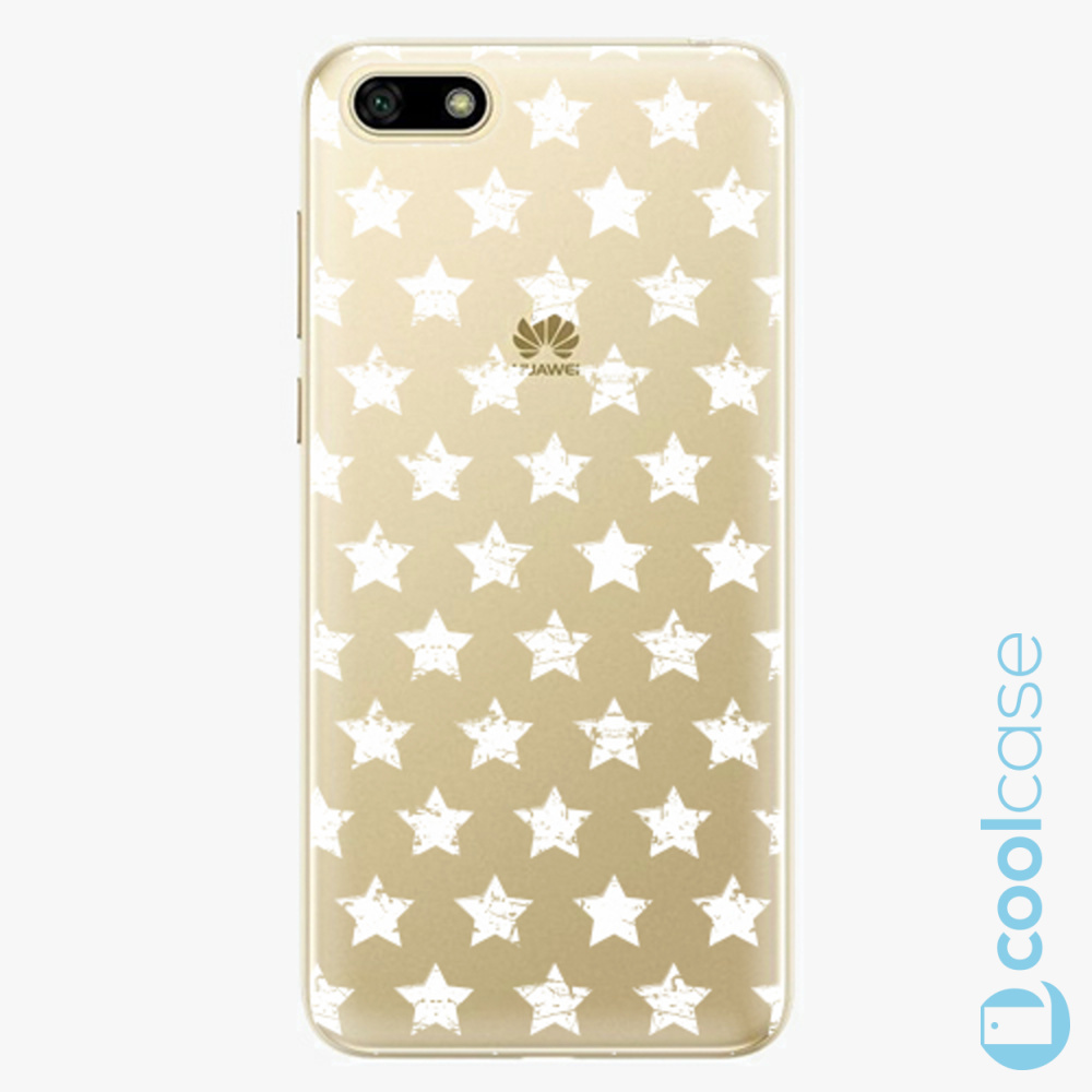 Plastový kryt iSaprio Fresh - Stars Pattern white na mobil Huawei Y5 2018 / Honor 7S