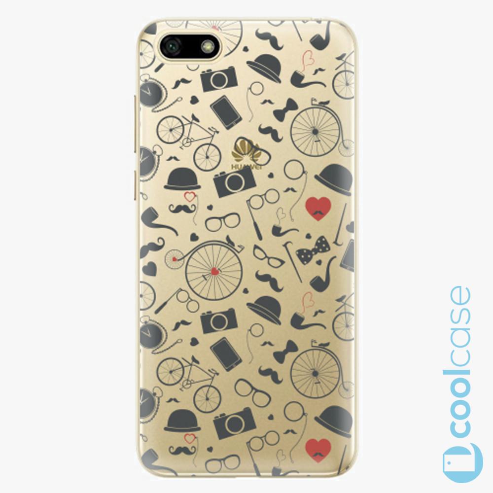 Plastový kryt iSaprio Fresh - Vintage Pattern 01 black na mobil Huawei Y5 2018 / Honor 7S