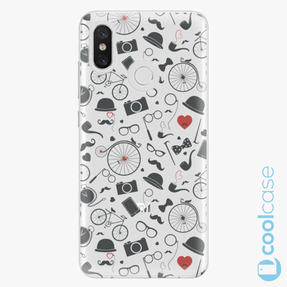 Plastový kryt iSaprio Fresh - Vintage Pattern 01 black na mobil Xiaomi Mi 8