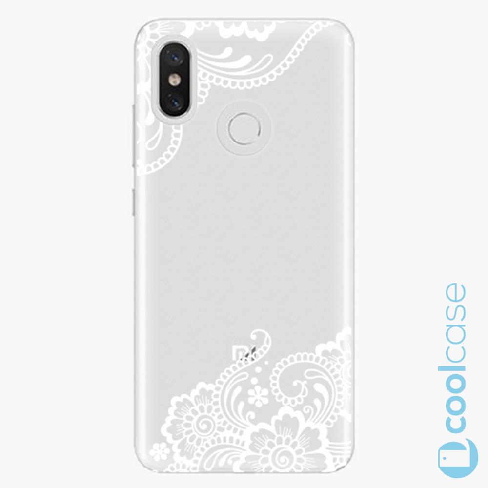 Plastový kryt iSaprio Fresh - white Lace 02 na mobil Xiaomi Mi 8