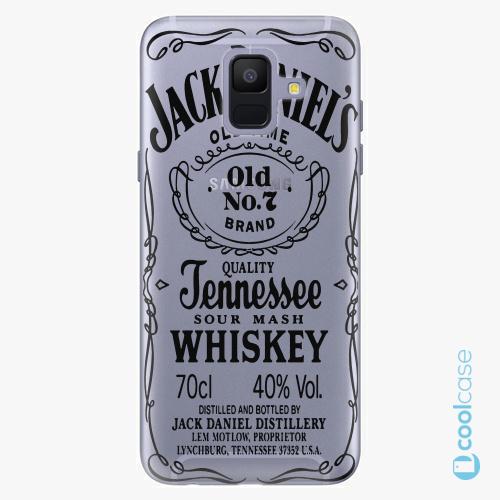 Plastové pouzdro iSaprio Fresh - Transparent Black Jack na mobil Samsung Galaxy A6