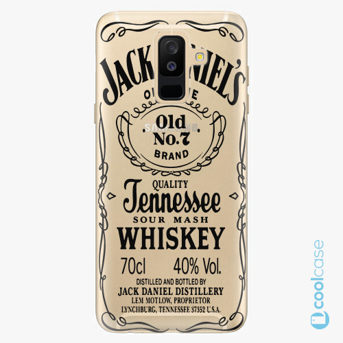 Plastové pouzdro iSaprio Fresh - Transparent Black Jack na mobil Samsung Galaxy A6 Plus