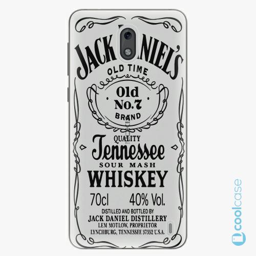 Plastové pouzdro iSaprio Fresh - Transparent Black Jack na mobil Nokia 2