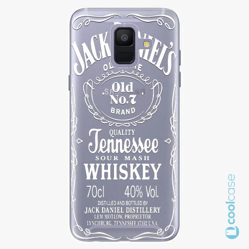 Plastové pouzdro iSaprio Fresh - Transparent White Jack na mobil Samsung Galaxy A6