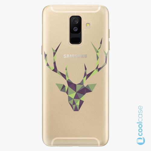 Plastové pouzdro iSaprio Fresh - Deer Green na mobil Samsung Galaxy A6 Plus