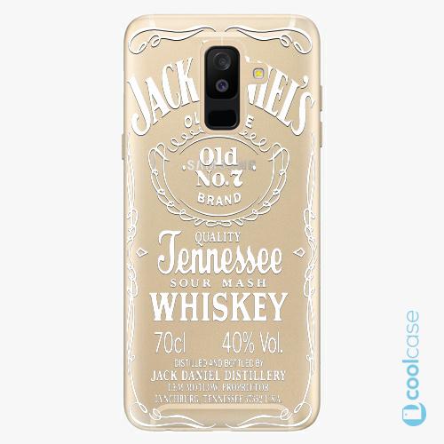 Plastové pouzdro iSaprio Fresh - Transparent White Jack na mobil Samsung Galaxy A6 Plus