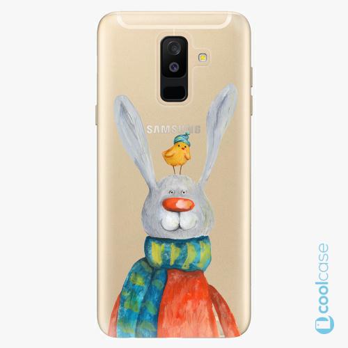Plastové pouzdro iSaprio Fresh - Rabbit And Bird na mobil Samsung Galaxy A6 Plus