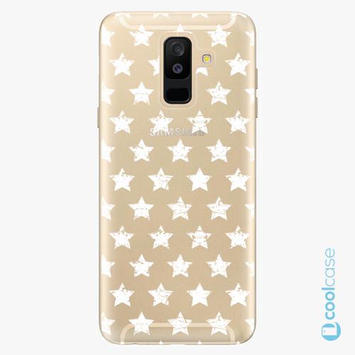Plastové pouzdro iSaprio Fresh - Stars Pattern white na mobil Samsung Galaxy A6 Plus