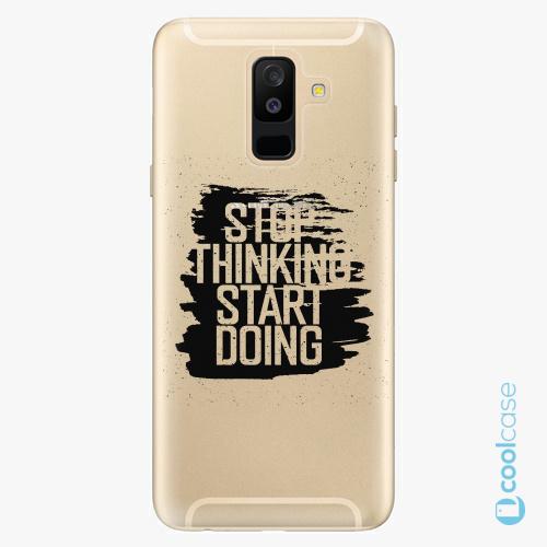 Plastové pouzdro iSaprio Fresh - Start Doing black na mobil Samsung Galaxy A6 Plus