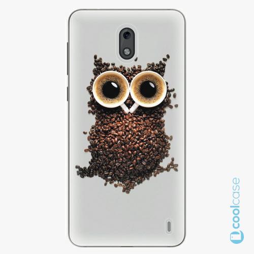 Plastové pouzdro iSaprio Fresh - Owl And Coffee na mobil Nokia 2