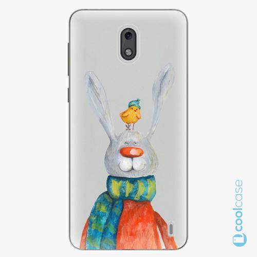 Plastové pouzdro iSaprio Fresh - Rabbit And Bird na mobil Nokia 2