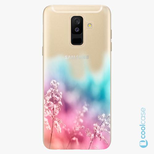 Plastové pouzdro iSaprio Fresh - Rainbow Grass na mobil Samsung Galaxy A6 Plus
