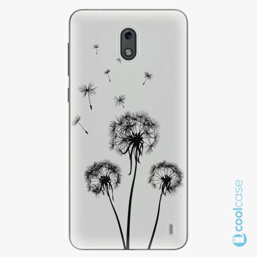 Plastové pouzdro iSaprio Fresh - Three Dandelions black na mobil Nokia 2