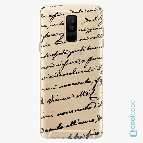 Plastové pouzdro iSaprio Fresh - Handwriting 01 black na mobil Samsung Galaxy A6 Plus