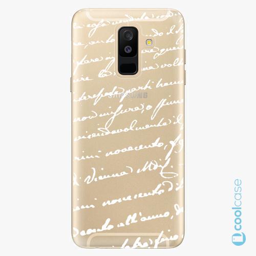 Plastové pouzdro iSaprio Fresh - Handwriting 01 white na mobil Samsung Galaxy A6 Plus