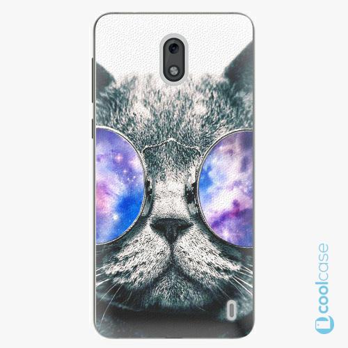 Plastové pouzdro iSaprio Fresh - Galaxy Cat na mobil Nokia 2