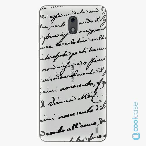 Plastové pouzdro iSaprio Fresh - Handwriting 01 black na mobil Nokia 2