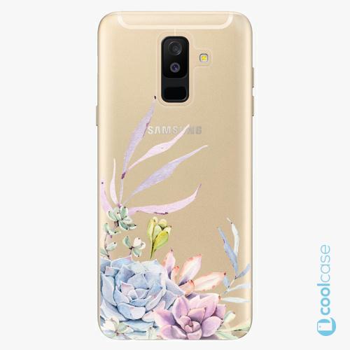 Plastové pouzdro iSaprio Fresh - Succulent 01 na mobil Samsung Galaxy A6 Plus